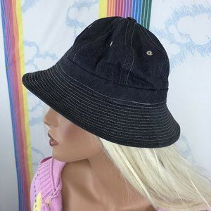 vintage 1960s denim Gilligan round top bucket hat